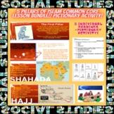 5 Pillars of Islam Common Core Lesson Bundle!! PICTIONARY Activity!