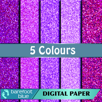 5 Pink Glitter Background Texture Digital Paper