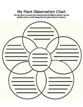 5-Plant Comparison Venn Diagram, Lesson Plan, and Differentiated Assessments