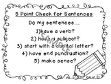 5 Point Check for Sentences