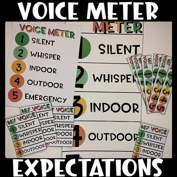 5 Point Scale Voice Meter Visual