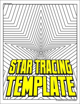 5 Point Star Drawing and Tracing Template