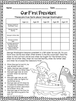 Presidents' Day Logic Puzzles!  ~Critical Thinking Skills~ Grades 2, 3 & 4
