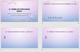 5 Prime Factorization Bingo games