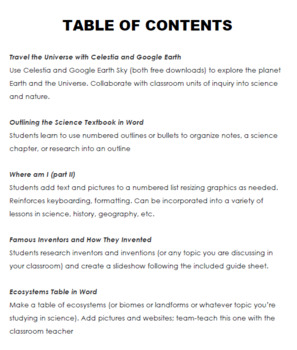 5 Projects to Integrate Science and Technology