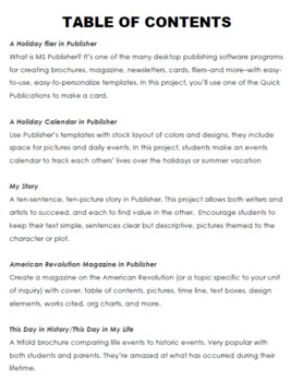5 Projects to Learn Publisher