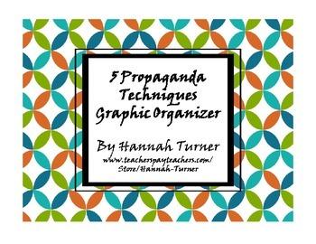 5 Propaganda Techniques Graphic Organizer