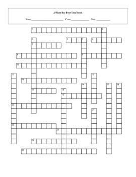 5 Puzzle 25 More Best Ever Teen Novels Worksheet Set and Keys