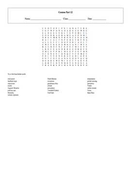 5 Puzzle Cosmos: A Spacetime Odyssey Episode 12 Worksheet Set with Keys
