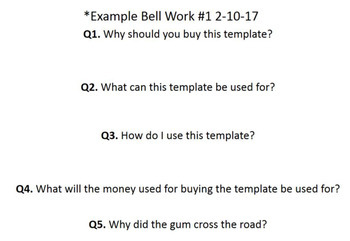 5 Questions, 5 Appearing Answers Template for Power Point