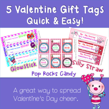 5 Quick and Easy Valentine's Day Cards or Tags for Student Gifts