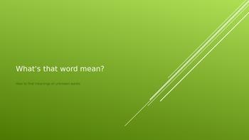 5.RI.4 Unknown Words
