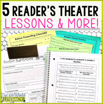 5 Reader's Theater Lessons, Note-Taking Pages, & More!