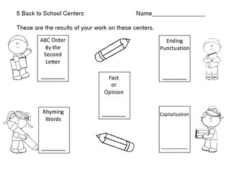 Back to School Reading Centers--Set 1