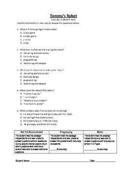5 Reading Comprehension - Grade 3 (Progress Monitoring)