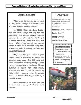 5 Reading Comprehension - Grade 4 (Progress Monitoring)