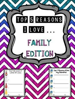5 Reasons I Love ______ - FAMILY Edition