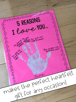 5 Reasons I Love You FREEBIE!