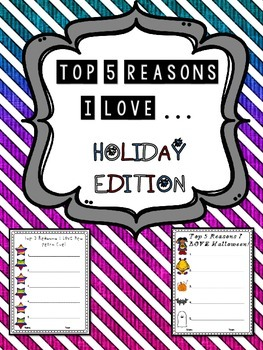5 Reasons I Love _____ - HOLIDAY Edition