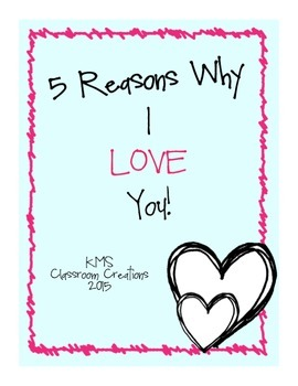 5 Reasons Why I Love You: Writing Prompt