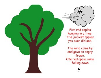 5 Red Apples Interactive Song Book