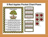 5 Red Apples Poem / Pocket Chart Pieces