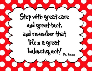 5 Red - Dr. Seuss Quote decor