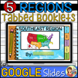 5 Regions of the US Tabbed Booklets (Print and Google Slid