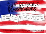 5 Regions of the USA Flashcards