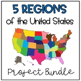 5 Regions of the United States Project Bundle
