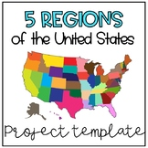 5 Regions of the United States Project Template