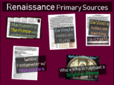 5 Renaissance Primary Source Documents (w activities, guiding questions & more)