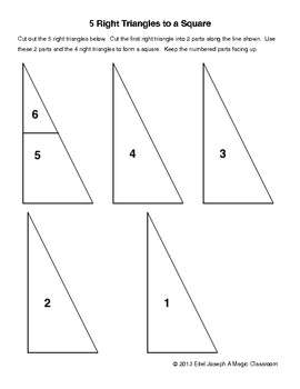 5 Right Trianges to a Square
