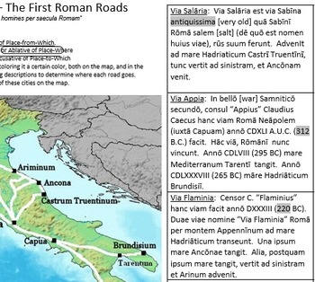 5 Roman Map-Study worksheets