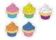5 Round Cupcakes