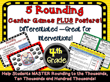 5 Rounding Math Center Games Differentiated Intervention Vertical Number Line