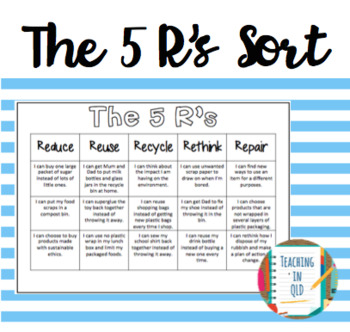 5 Rs Cut and Paste Sort *FREEBIE*