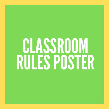 5 Rules for the Classroom (Outdoor Theme)