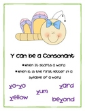 5 Rules of Y (Y as a short and long I, long E, consonant,
