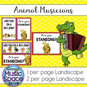 5-S Line Posters Animal Musicians Theme