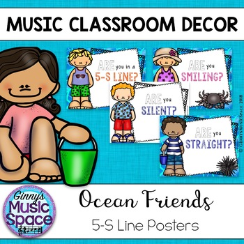 5-S Line Up Posters Ocean Friends Theme