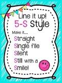 5-S Style Line Poster Chant {Aqua Brights}