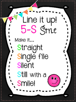 5-S Style Line Poster Chant {Black & Brights}
