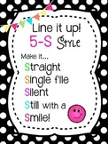 5-S Style Line Poster Chant {Black Polka Dots & Brights}