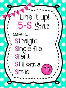 5-S Style Line Poster Chant {Mint & Pink}