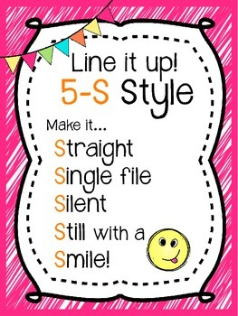 5-S Style Line Poster Chant {Pink Brights}