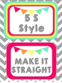 5 S Style Line Posters
