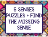 """5 SENSES PUZZLES AND """"FIND THE MISSING SENSE"""" ACTIVITY"""