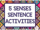 5 SENSES SENTENCE ACTIVITIES