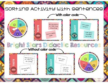 5 SENSES SORTING ACTIVITY